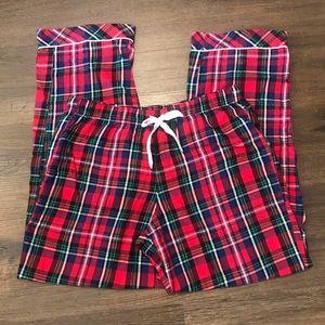 "Victoria's Secret Red Plaid Sleep Pants ""Long"""